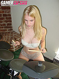 Step Sister Liz Ashley Touches Your Drum Set