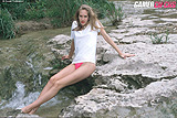Sexy Skinny Lori Posing Nude In Forest and By Waterfall