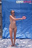 Skinny Lori Get Painted In Blue Tarp Magic