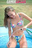 Skinny Lori Has Nakie Time Fun In Kiddie Pool