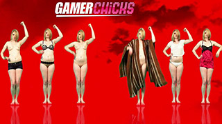 If you appreciate Kandy Koleco's gratuitous yet very classy and glamorous nudity then you'll love our other young girls dancing to royalty free music on GamerChicks.com! It's about damn time someone made something weird and sexy like this. Trust us, you'll find it gratifying. Our focus groups were all quite happy.